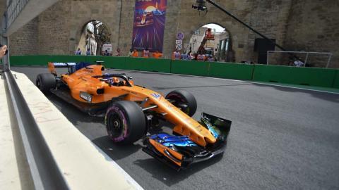 Alonso en el GP Azerbaiyan