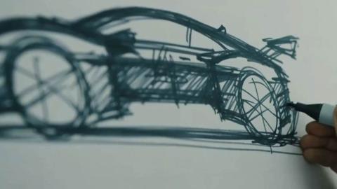 Audi e-tron Vision boceto