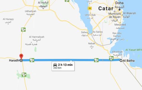 La carretera recta más larga del mundo