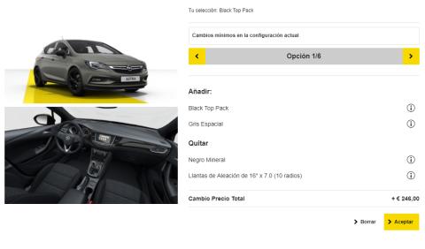Configurador del Opel Astra (VI)