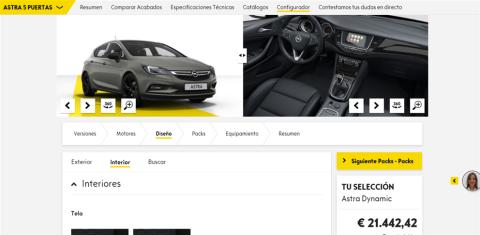Configurador del Opel Astra