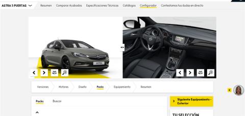 Configurador Opel Astra