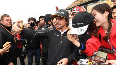 Fernando Alonso en el GP China