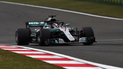 Hamilton en el GP China F1 2018