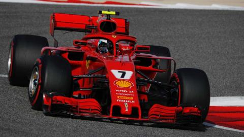 Kimi Raikkonen en la clasificacion de Bahrein