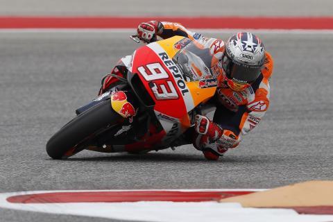 Marc Márquez domina la Clasificación MotoGP Austin 2018