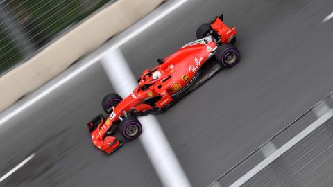 Sebastian Vettel en el GP Azerbaiyan