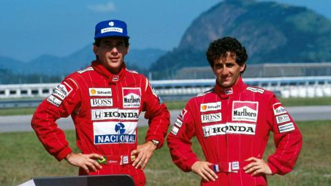 Senna y Prost en el GP de San marino de 1989