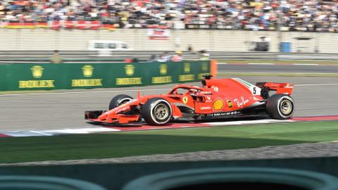Vettel en el GP China 2018