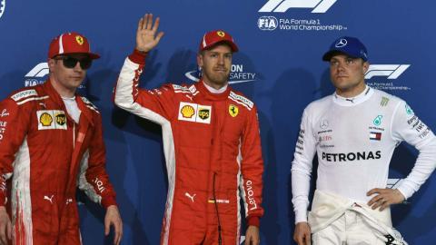 Vettel pole en Bahrein
