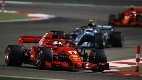 Victoria de Vettel en el GP de Bahrein