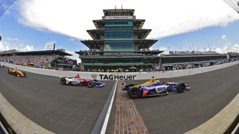 Alexander Rossi en la Indy 500