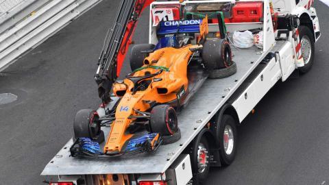 Alonso abandona en el GP de Mónaco