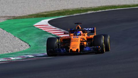 Alonso en el circuit de barcelona