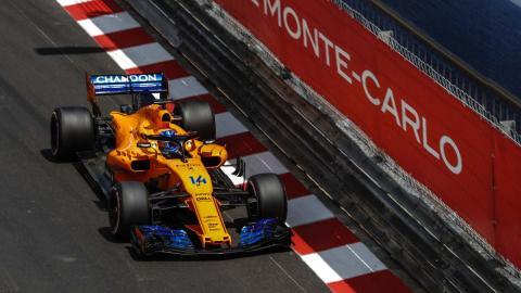 Alonso en la clasificación de Mónaco