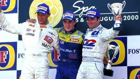 Alonso en Spa en el 2000