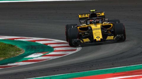 Carlos Sainz en el GP España 2018