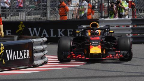 Daniel Ricciardo, en los Libres 1 de Mónaco