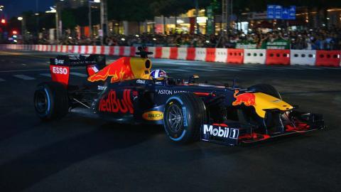Exhibición de Coulthard en Vietnam