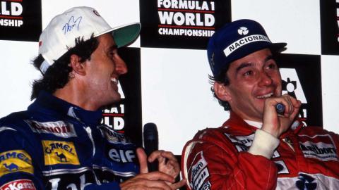 Prost y Senna en el GP Australia de 1993