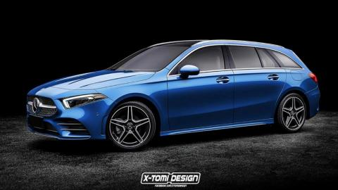 Render Mercedes Clase A Coupé y Estate