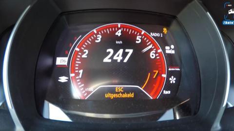 Velocidad máxima Renault Mégane RS 2018