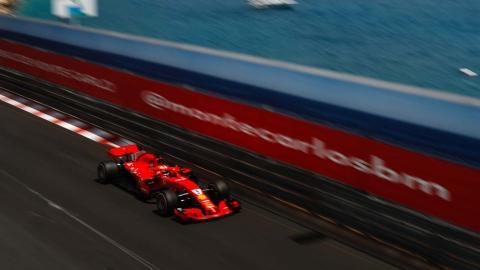 Vettel en el GP Mónaco