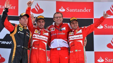 Victoria de Alonso en el GP España 2013