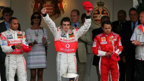 Alonso gana GP Mónaco