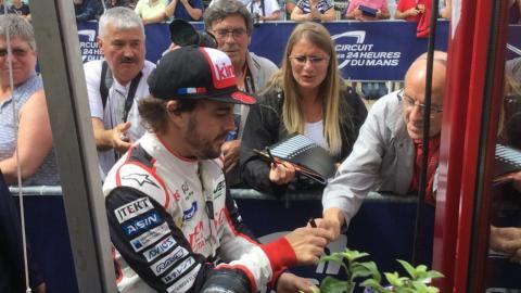 Alonso en las verificaciones