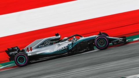 Hamilton en la clasificación de Austira
