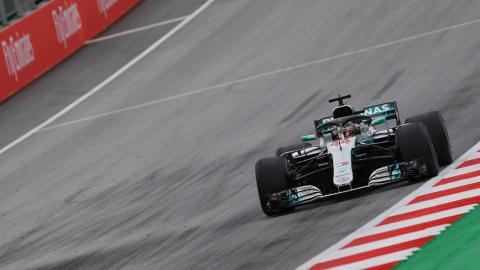 Hamilton en el GP Austria 2018