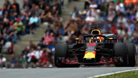 Max Verstappen en el GP de Austria
