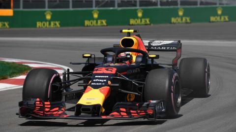 Max Verstappen en el GP Canadá