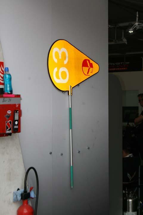 Piruleta del equipo Corvette en Le Mans