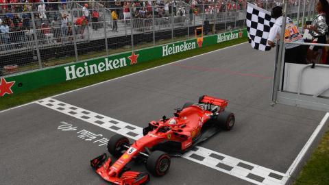 Victoria de Vettel en Canadá