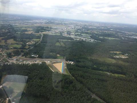Vuelta en helicóptero al circuito de Le Mans