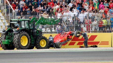 Accidente de Vettel en Alemania