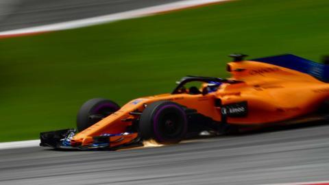 Alonso en el GP de Austria