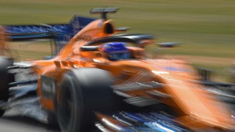 Alonso en el GP de Gran bretaña