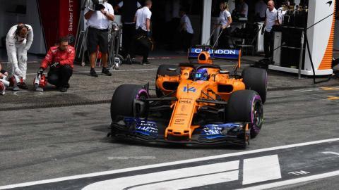 Fernando Alonso en clasificación GP Alemania