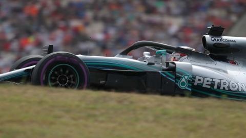 Hamilton en la clasificación de Alemania