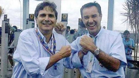 Nelson Piquet y Eliseo Salazar