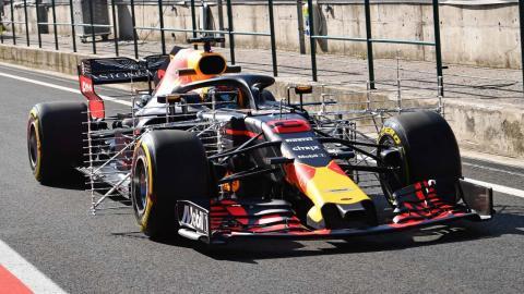 Nuevo alerón delantero Red Bull