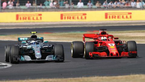 Vettel y Bottas en Silverstone
