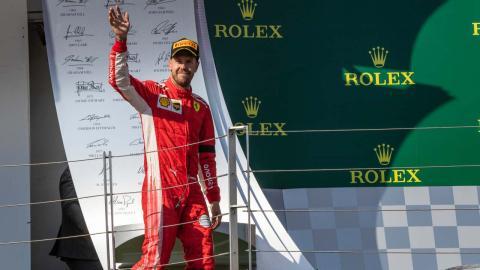 Vettel podio Hungría