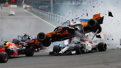 Accidente de Alonso en Spa