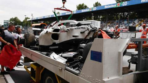 Accidente Marcus Ericsson en Monza