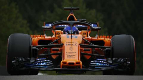 Alonso en el GP de Bélgica