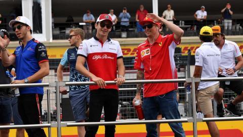 Kimi Räikkönen y Charles Leclerc
